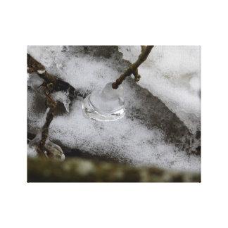 Eistropfen Leinwanddruck