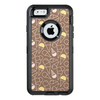 Eistüte-Muster auf Brown OtterBox iPhone 6/6s Hülle