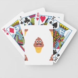 Eistüte poo emoji bicycle spielkarten