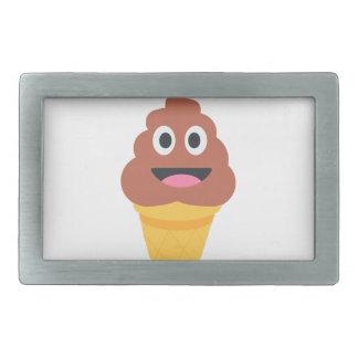 Eistüte poo emoji rechteckige gürtelschnalle
