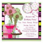 Eistüten und Ballon-Geburtstag Einladung