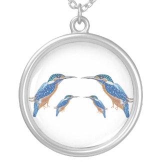 Eisvogel-Halsketten-Anhänger-Juwelen Versilberte Kette