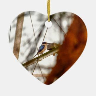 EISVOGEL LÄNDLICHES QUEENSLAND AUSTRALIEN KERAMIK Herz-Ornament