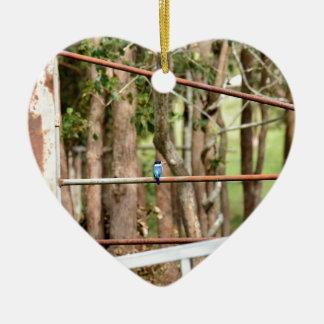 EISVOGEL QUEENSLAND AUSTRALIEN KERAMIK Herz-Ornament