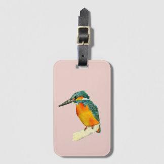 Eisvogel-Vogel-Aquarell-Malerei Gepäckanhänger