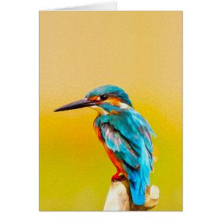 Eisvogel-Vogel-Aquarell-Porträt Karte