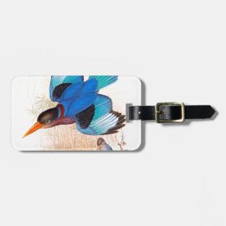 Eisvogel-Vogel-Tier-Tier-Teich Kofferanhänger