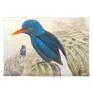 Eisvogel-Vogel-Tier-Tier-Teich Stofftischset