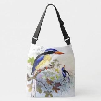 Eisvogel-Vogel-Tier-Tier-Teich-Taschen-Tasche Tragetaschen Mit Langen Trägern