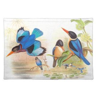 Eisvogel-Vogel-Tier-Tier-Teich Tischset