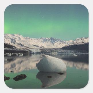 Eiszeit-Aurora Quadratischer Aufkleber