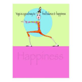 Eitelkeits-Yoga-Glückpostkarte