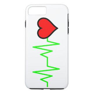 EKG Cardiogram-Herz iPhone 8 Plus/7 Plus Hülle