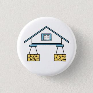 Eklektischer Haus-Knopf Robert Venturis (5 von 5) Runder Button 2,5 Cm