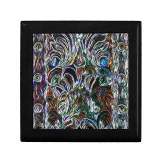 Eklektisches Vintages beflecktes Glas Erinnerungskiste