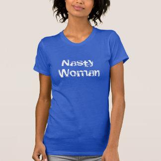 Eklige Frau - beunruhigter weißer Text T-Shirt