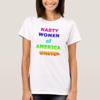 Eklige Frauen von Amerika vereinigen T-Shirt