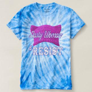 Ekliger Frau #RESIST Krawatten-T - Shirt
