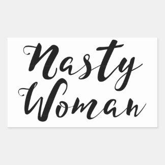 Ekliger Frauen-Aufkleber Rechteckiger Aufkleber