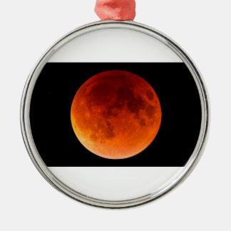 Eklipse des Blut-Mondes Rundes Silberfarbenes Ornament