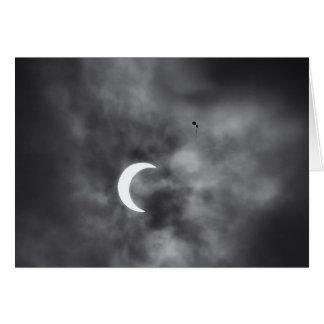 Eklipse steigt Anmerkungs-Karte im Ballon auf Karte
