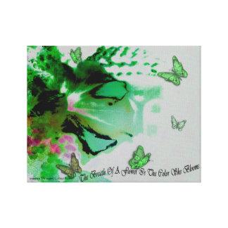 Ekstatischer Blumen-Grün-Leinwand-Druck Leinwanddruck