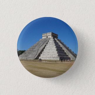 EL Castillo - Chichen Itza, Knopf Mexikos #4 Runder Button 3,2 Cm