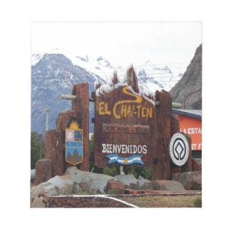 EL Chalten, Patagonia, Argentinien Notizblock