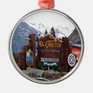 EL Chalten, Patagonia, Argentinien Rundes Silberfarbenes Ornament