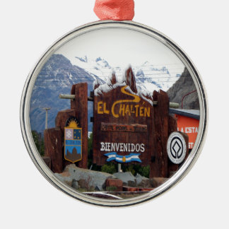 EL Chalten, Patagonia, Argentinien Silbernes Ornament