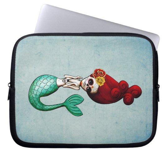 El Dia de Muertos Mermaid Laptop Computer Schutzhüllen