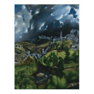 El Greco-Ansicht von Toledo Postkarte