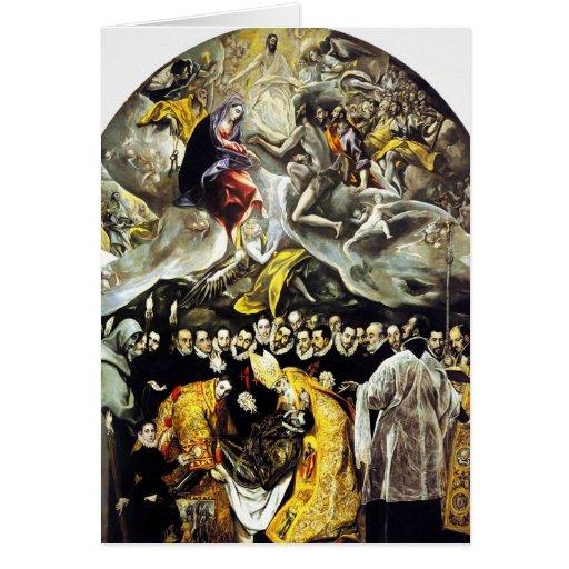 El Greco-Beerdigung der Zählung von Orgaz-Karte