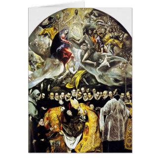 El Greco-Beerdigung der Zählung von Orgaz-Karte Grußkarte
