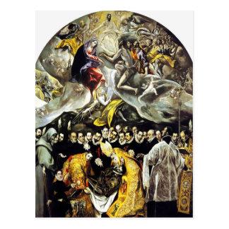 El Greco-Beerdigung der Zählung von Orgaz-Postkart Postkarte