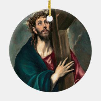 El Greco Christus, der das Kreuz trägt Keramik Ornament