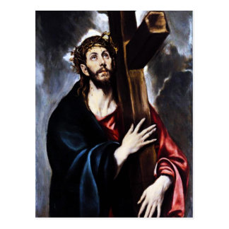 El Greco Christus, der das Kreuz trägt Postkarte