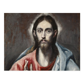 El Greco - Christus-Segen Postkarten