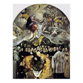 EL Greco- die Beerdigung der Zählung von Orgaz Postkarten