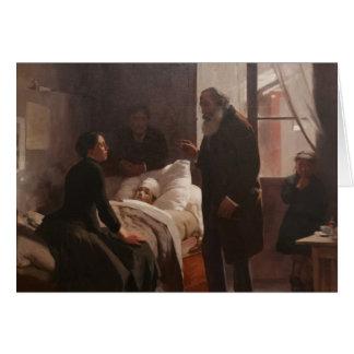 EL Niño enfermo durch Arturo Michelena 1886 Grußkarte