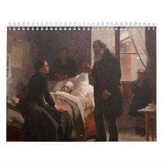 EL Niño enfermo durch Arturo Michelena 1886 Kalender