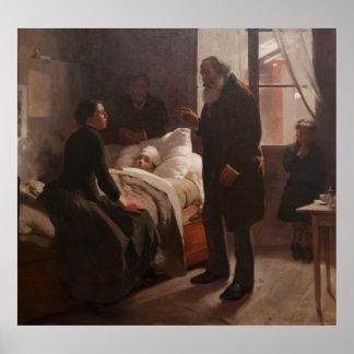 EL Niño Enfermo durch Arturo Michelena 1886 Poster