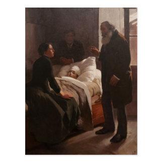 EL Niño enfermo durch Arturo Michelena 1886 Postkarte