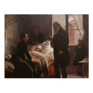 EL Niño enfermo durch Arturo Michelena 1886 Postkarten