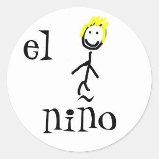 EL niño Spanisch-Aufkleber