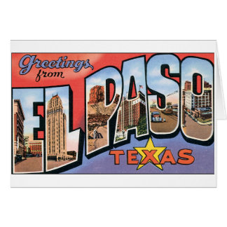 El Paso, Texas Notecard Karte