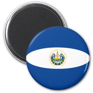 El Salvador Fisheye Flaggen-Magnet Runder Magnet 5,7 Cm