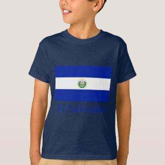 El Salvador Flagge mit Namen T-Shirt