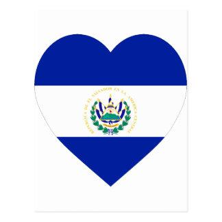El Salvador Flaggen-Herz Postkarte