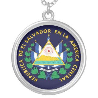 El Salvador Wappen Versilberte Kette